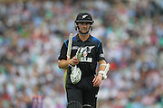 New Zealand Kane Williamson walks back to the pavilion out for 93 during the Royal London One Day International match between England and New Zealand at the Oval, London, United Kingdom on 12 June 2015. Photo by Phil Duncan.