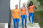 2019, September 10. Sports Centre Papendal, Arnhem, the Netherlands. Dafne Schippers, Jamile Samuel and Marije van Hunenstijn.