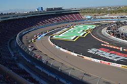 November 10, 2018 - Phoenix, Arizona, U.S. - PHOENIX, AZ - NOVEMBER 10: Pole winner John Hunter Nemechek (42) Chevrolet leads the field of race cars  into turn 1 at the NASCAR Xfinity Series Playoff Race - Whelen 200  on November 10, 2018 at ISM Raceway in Phoenix, AZ.  (Photo by Lyle Setter/Icon Sportswire) (Credit Image: © Lyle Setter/Icon SMI via ZUMA Press)