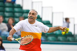 Liverpool, England - Saturday, June 16, 2007: Mansour Bahrami in action during Legends Doubles on day five of the Liverpool International Tennis Tournament at Calderstones Park. For more information visit www.liverpooltennis.co.uk. (Pic by David Rawcliffe/Propaganda)