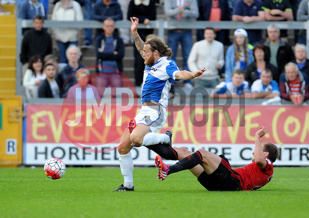 Stuart Sinclair of Bristol Rovers - Mandatory by-line: Neil Brookman/JMP - 07966386802 - 31/07/2015 - SPORT - FOOTBALL - Bristol,England - Memorial Stadium - Bristol Rovers v West Brom - Pre-Season Friendly