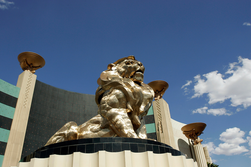 US-LAS VEGAS: Lion in front of  Hotel MGM Grand in Las Vegas. PHOTO GERRIT DE HEUS