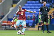Michael Kightly (Burnley) takes a free kick just outside the Bolton penalty box during the Pre-Season Friendly match between Bolton Wanderers and Burnley at the Macron Stadium, Bolton, England on 26 July 2016. Photo by Mark P Doherty.