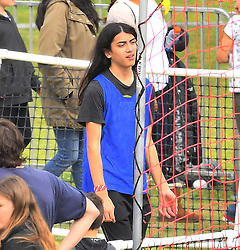 EXCLUSIVE: Michael Jackson's youngest son Bigi 'Blanket' Jackson was spotted having fun at a carnival in Los Angeles, CA. The famous teen was spotted watching a game of soccer, munching on some snacks, and even joining in on the soccer fun as the goalie. Nicole Richie & husband Joel Madden were also seen watching Michael Jackson's son play some soccer, the fashion star is also Michael Jackson's god daughter. 13 May 2018 Pictured: Michael Jackson's youngest son Bigi 'Blanket' Jackson was spotted having fun at a carnival in Los Angeles, CA. The famous teen was spotted watching a game of soccer, munching on some snacks, and even joining in on the soccer fun as the goalie. Nicole Richie & husband Joel Madden were also seen watching Michael Jackson's son play some soccer, the fashion star is also Michael Jackson's god daughter. Photo credit: Marksman / MEGA TheMegaAgency.com +1 888 505 6342