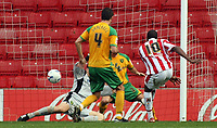 Photo: Paul Thomas.<br /> Stoke City v Norwich City. Coca Cola Championship. 28/10/2006.<br /> <br /> Ricardo Fuller (10) of Stoke scores their second goal.