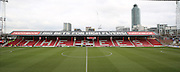 Griffin Park dugout and stand during the Sky Bet Championship match between Brentford and Charlton Athletic at Griffin Park, London, England on 5 March 2016. Photo by Matthew Redman.
