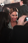 Beyonce at the Ground Breaking Ceremony at The Atlantic Yards for the Barclay Center, which will be the future home for the Brooklyn Nets on March 11, 2010 in Brooklyn New York. Photo Credit: Terrence Jennings