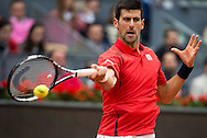 Novak Djokovic during the final of the Madrid Open at Manzanares Park Tennis Centre, Madrid<br /> Picture by EXPA Pictures/Focus Images Ltd 07814482222<br /> 08/05/2016<br /> ***UK &amp; IRELAND ONLY***<br /> EXPA-ESP-160509-0102.jpg