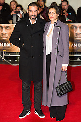 © Licensed to London News Pictures. 28/11/2016. ROBERT PIRES and wife JESSICA LEMRIE attend the I Am Bolt world film premiere. London, UK. Photo credit: Ray Tang/LNP