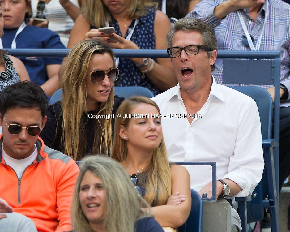 US Open 2016 Feature, Hugh Grant und Anna Elisabet Eberstein<br /> <br /> Tennis - US Open 2016 - Grand Slam ITF / ATP / WTA -  USTA Billie Jean King National Tennis Center - New York - New York - USA  - 4 September 2016.