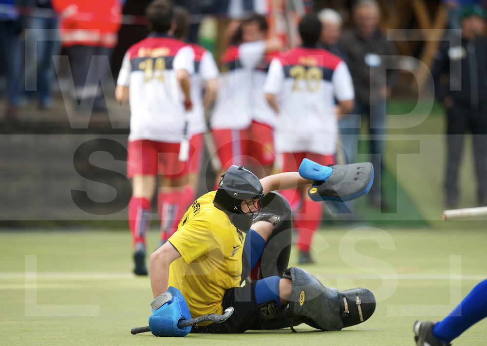 MULHEIM - EHL Hockey round 1.1.KS Pmorzanin Torun vs Rc Polo de Barcelona 0-2.foto: Polo celebrate first goal, keeper Pawel Murszewski in front..FFU PRESS AGENCY COPYRIGHT FRANK UIJLENBROEK..