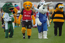 MASCOTS ON THE WAY TO THE START, John Smiths Mascot Grand National, Huntingdon Racecourse Sunday 5th October 2008