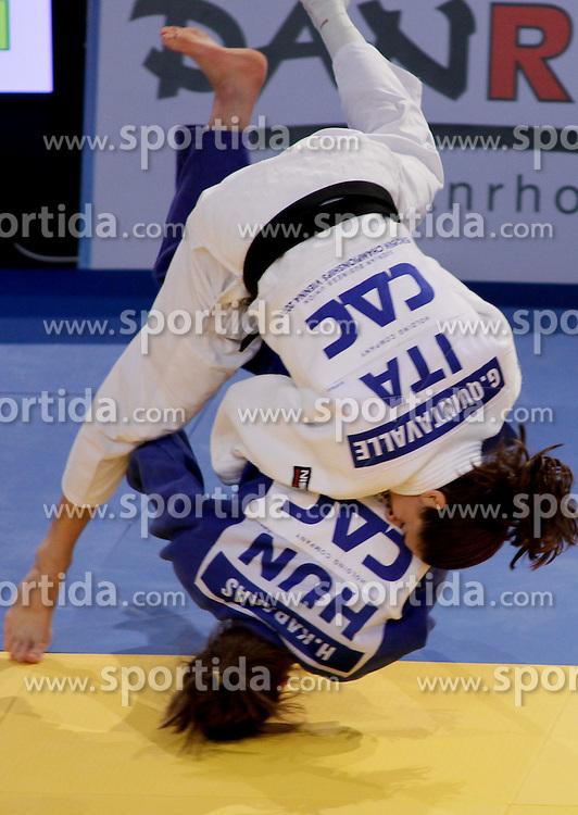 22.04.2010, Ferry Dusika Stadion, Wien, AUT, Judo European Championships, Hedvig Karakas (HUN) vs Giulia Quintavalle (ITA), during Judo European Championships 2010, EXPA Pictures 2010, Photographer EXPA/S. Trimmel / SPORTIDA PHOTO AGENCY