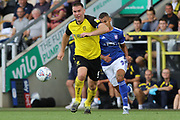 Burton Albion defender Jake Buxton on the ball during the EFL Sky Bet League 1 match between Burton Albion and Ipswich Town at the Pirelli Stadium, Burton upon Trent, England on 3 August 2019.