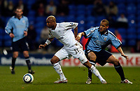 Fotball<br /> England 2004/2005<br /> Foto: SBI/Digitalsport<br /> NORWAY ONLY<br /> <br /> Bolton Wanderers v Southampton, Barclays Premiership, 19/04/2005.<br /> Bolton's El Hadji Diouf torments Southampton all through the first half as they struggle to contain him.