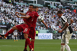 August 19, 2017 - Turin, Italy - Mandzukic heads the ball during the Serie A football match n.1 JUVENTUS - CAGLIARI on 19/08/2017 at the Allianz Stadium in Turin, Italy. (Credit Image: © Matteo Bottanelli/NurPhoto via ZUMA Press)