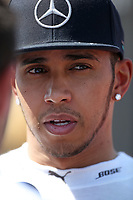 HAMILTON lewis (gbr) mercedes gp mgp w06 ambiance portrait during 2015 Formula 1 FIA world championship, Spain Grand Prix, at Barcelona Catalunya from May 8th to 10th. Photo Gregory Lenormand / DPPI