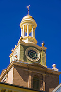 Historic courthouse clock tower, Silverton, Colorado USA