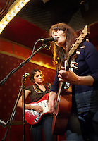 Norah Jones and Sasha Dobson play with their trio, Puss 'n Boots at Pete's Candy Store on 01-25-09