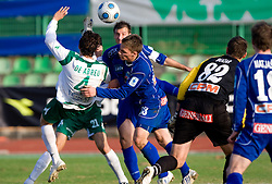 Ferreira F. De Abreu of Olimpija vs Marko Pecnik of Drava at 18th Round of PrvaLiga football match between NK Olimpija and NK Labod Drava, on November 21, 2009, in ZAK, Ljubljana, Slovenia. Olimpija defeated Drava 3:0. (Photo by Vid Ponikvar / Sportida)