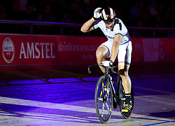Germany's Maximilian Levy wins the Men's Sprint Final during day six of the Six Day Series at Lee Valley Velopark, London