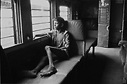 may 1991, india, Bombay, nearby victoria Terminus, streetchild, train, poosition sheet n°12 © ISABELLA BALENA www.isabellabalena.com