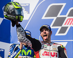 October 23, 2016 - Melbourne, Victoria, Australia - British rider Cal Crutchlow (#35) of LCR Honda celebrates after winning the MotoGP category race at the 2016 Australian MotoGP held at Phillip Island, Australia. (Credit Image: © Theo Karanikos via ZUMA Wire)