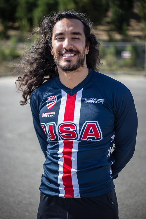 Men Elite #187 (GARCIA Jared) USA at the 2018 UCI BMX World Championships in Baku, Azerbaijan.
