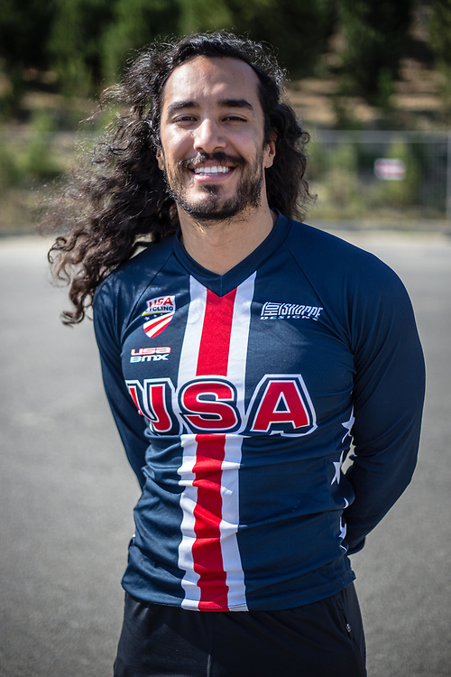 Men Elite #187 (GARCIA Jared) USA at the 2018 UCI BMX World Championships in Baku, Azerbaijan.