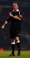 Photo: Daniel Hambury.<br />West Ham United v Bolton Wanderers. The FA Cup. 15/03/2006.<br />Referee Rob Styles.