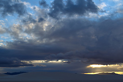 dramatic sky in White Sands, New Mexico
