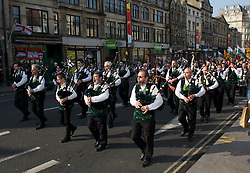 CARDIFF, WALES - Thursday, March 1, 2012: 10th St. David's Day Parade through the streets of Cardiff. (Pic by David Rawcliffe/Propaganda)