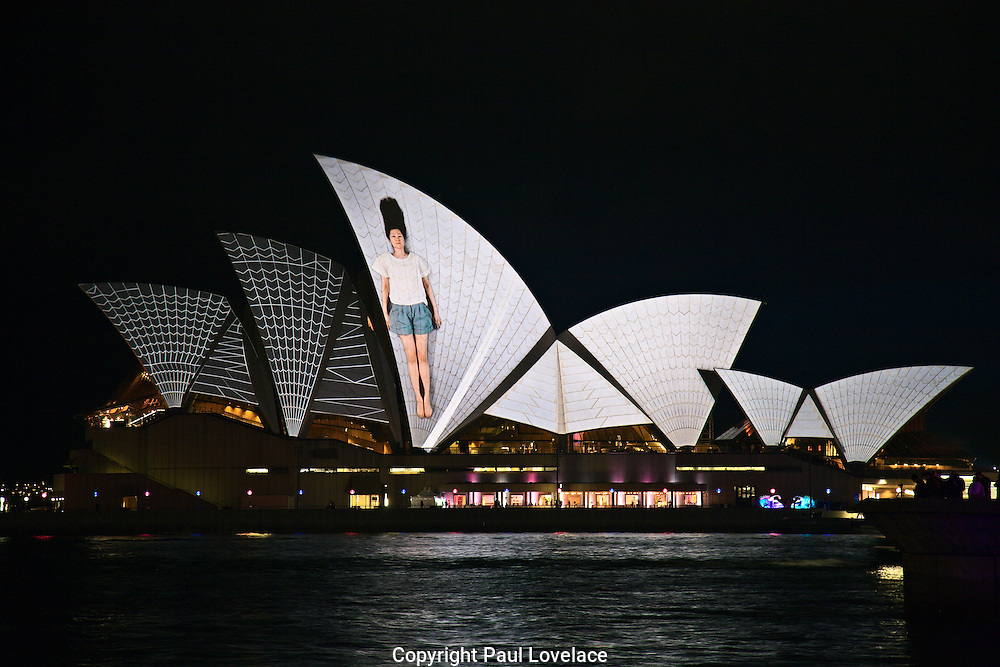Urbanscreen lighting the sails of the Sydney Opera House..This year Vivid Live has commissioned multi award winning German design collective Urbanscreen to create a new projected artwork, transforming Sydney Opera House with their reinterpretation of the Sails- Vivid Live's most public event..Urbanscreen has taken the art of light projection, video mapping and motion graphics to extraordinary heights in their many large scale installations, including commissions from major art galleries, international festivals and opera companies.