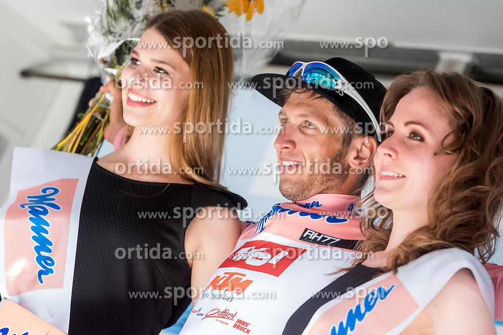 04.07.2016, Steyr, AUT, Ö-Tour, Österreich Radrundfahrt, 2. Etappe, Mondsee nach Steyr, im Bild Rosa Trikot, Clemens Fankhauser (AUT, Tirol Cycling Team) // Best Austrian Clemens Fankhauser (AUT Tirol Cycling Team) during the Tour of Austria, 2nd Stage from Mondsee to Steyr, Austria on 2016/07/04. EXPA Pictures © 2016, PhotoCredit: EXPA/ JFK