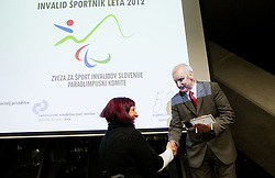 during Slovenian Disabled Sports personality of the year 2012 event on December 6, 2012 in Kristalna palace, Ljubljana, Slovenia. (Photo By Vid Ponikvar / Sportida)