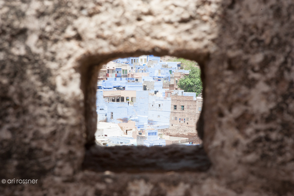 Window overlooking the city