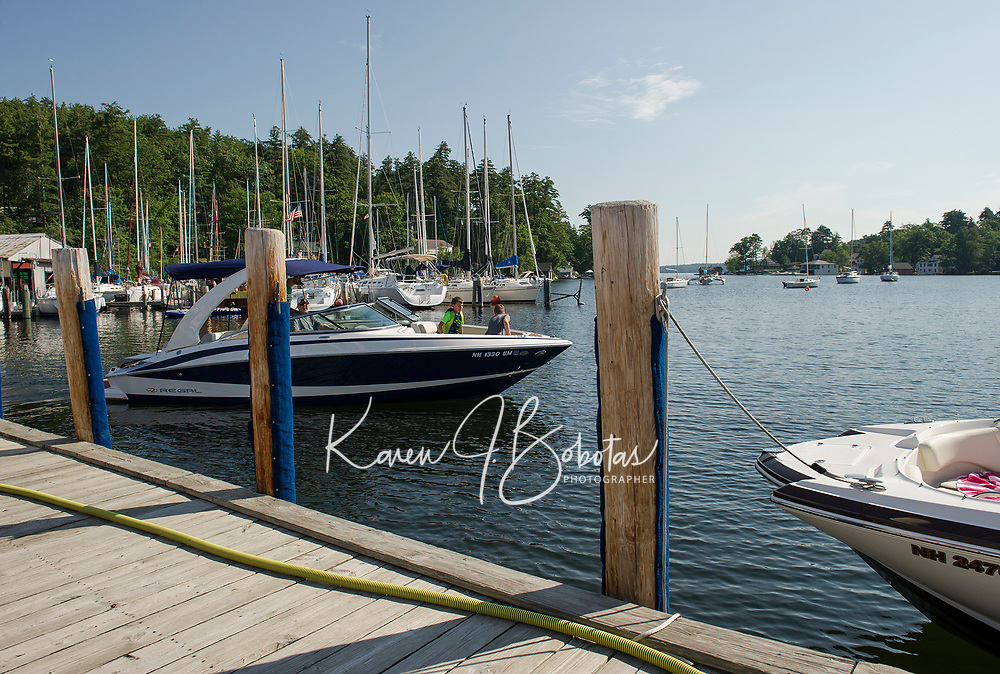 Fay's Boat Yard offers boaters easy access to Lake Winnipesaukee from Smith Cove in Gilford, NH.   (Karen Bobotas/for New England Boating)