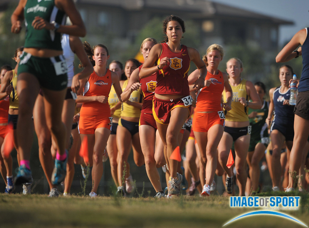 "Sep 6, 2008; Irvine, CA, USA; Chanel Fishetti of Southern California competes in the womens ""A"" race in the UC Irvine Invitational at the Anteater Recreation Center Fields."