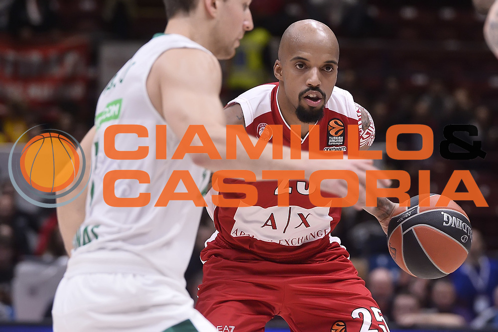 Jordan Theodore<br /> AX Armani Exchange Milano - Zalgiris Kaunas<br /> Euroleague 2017/2018<br /> Milano, 09/11/2017<br /> Foto Ciamillo-Castoria