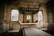 Philippines, Manila. Interior of a tomb at the Chinese Cemetery.
