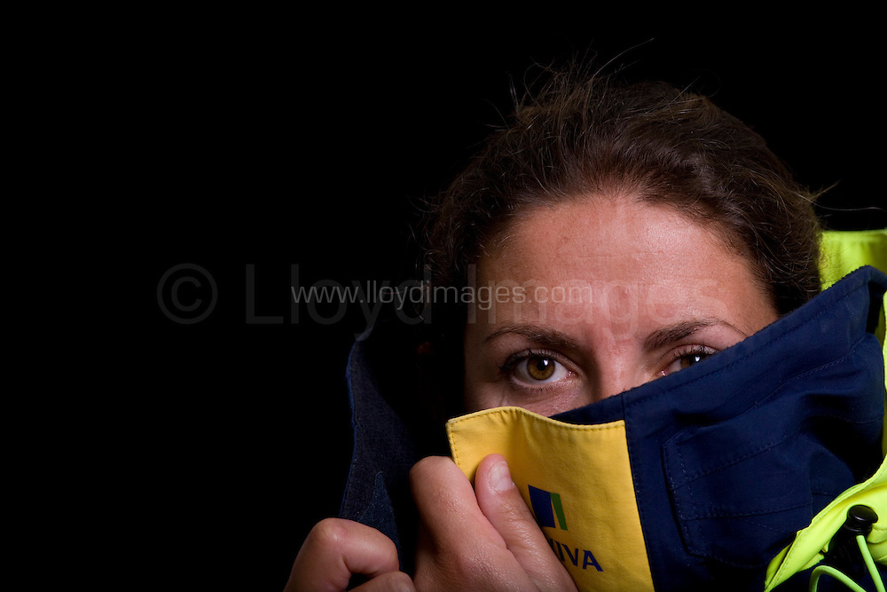 """Portraits of Dee Caffari, who skippers the IMOCA Open 60 boat AVIVA, as she prepares for the Vendee Globe start in November 2008...Caffari is about to embark on the round the world race which will make her the first woman to have sailed single handed around the world in both directions...All pictures must be credited """"Lloyd Images"""""""