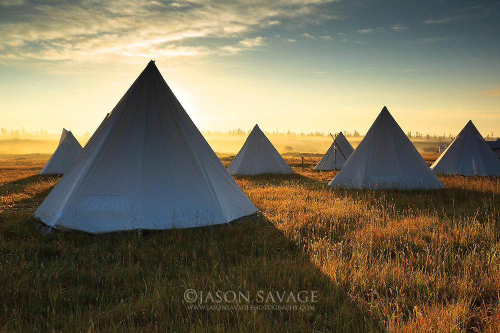 Montana Glamping at Yellowstone Under Canvas near West Yellowstone.