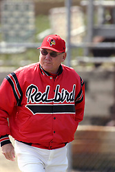 27 March 2005<br /> <br /> ISU Head Coach Jim Brownlee.<br /> <br /> Illinois State Redbirds V Creighton Bluejays.  Missouri Valley Conference. Redbird Field, Illinois State University, Normal Illinois