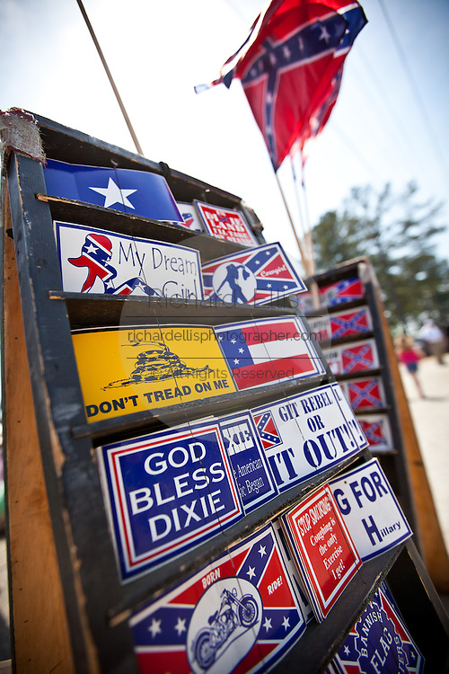 Confederate and racist bumper stickers in St. George, SC