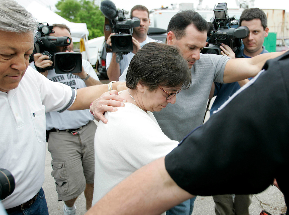 Mary Schindler (C) leaves the Woodside Hospice after visiting with daughter Terri Schiavo on March 23, 2005 in Pinellas Park, Fla. Photo by Scott Audette/Reuters