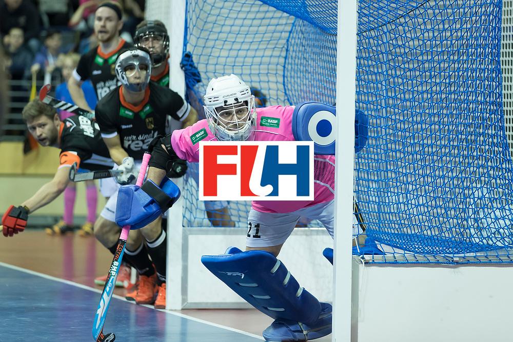 Hockey, Seizoen 2017-2018, 08-02-2018, Berlijn,  Max-Schmelling Halle, WK Zaalhockey 2018 MEN, Poland - Germany 3-6, WALTER Tobias (GK) (GER)