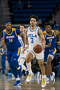 UCLA Bruins guard Jules Bernard (3) brings the ball up against the San Jose State Spartans during an NCAA college basketball game, Sunday, Dec. 1, 2019, in Los Angeles. UCLA defeated San Jose State 93-64. (Jon Endow/Image of Sport)