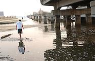 Causeway Route 90 bridge between Biloxi and Gulfport, MS destroyed by Hurricane Katrina seen on Monday, June 26, 2006. Hurricane Katrina struck the Gulf states 10 months ago.