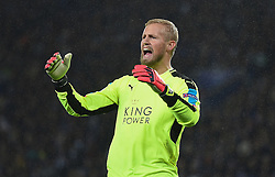 Kasper Schmeichel of Leicester City - Mandatory by-line: Alex James/JMP - 10/01/2014 - FOOTBALL - King Power Stadium - Leicester, England - Leicester City v FC Copenhagen - UEFA Champions League