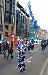 All Under One Banner March For Independence, Glasgow, Saturday 5th May 2018<br /> <br /> Thousands of people joined a march in support of Scottish Independence today in Glasgow.<br /> <br /> There were flags of many countries represented.<br /> <br /> <br /> Alex Todd | EEm